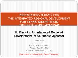 preparatory survey for the integrated regional
