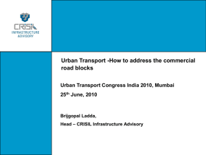 Unlocking value for funding urban transport infrastructure