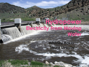 Hydropower Electricity From Moving Water