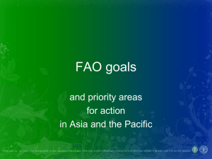 Annex05 FAO Goals and priority areas for action in Asia