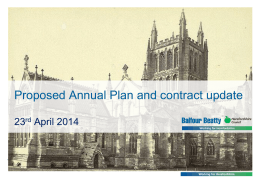 Power Point presentation from Balfour Beatty Apr 14