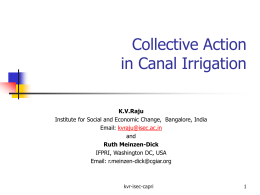 case study of Indian canal irrigation - CAPRi