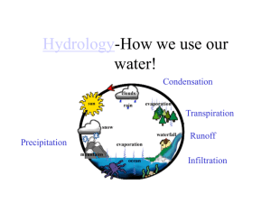 Hydrology-How we use our water!