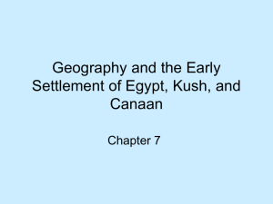 Geography and the Early Settlement of Egypt, Kush, and Canaan