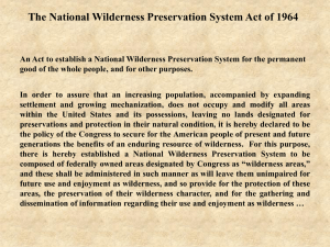 Conservation and Wilderness