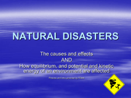 Natural Disasters - Causes & Effect 2011