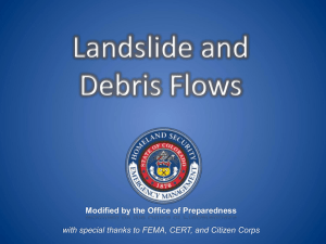 Hazard based training - Landslides