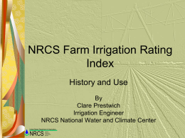 NRCS Farm Irrigation Rating Index FIRI