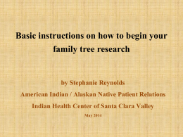 Basic instructions on how to begin your family tree
