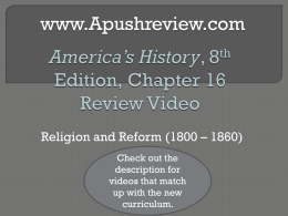 America`s History Chapter 16
