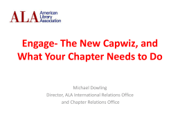 Migrating from Capwiz to Engage - Michael Dowling