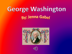 George Washington By - Silver Creek Central School