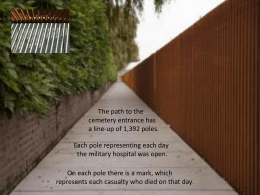 KS3+4 Explore the Journey from Trench to Cemetery (PowerPoint)