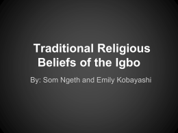 Traditional Religious Beliefs of the Igbo