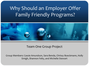 Why Should an Employer Offer Family Friendly