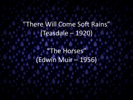 Teasdale and E. Muir PowerPoint