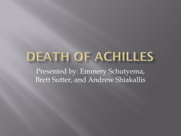 Death of Achilles