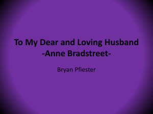 To My Dear and Loving Husband -Anne Bradstreet- - eng2326