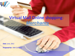 Presentation on Virtual Mall Online shopping