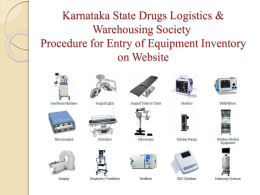 Slide 1 - Karnataka Drugs Logistics & Warehousing Society