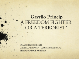Gavrilo Princip A FREEDOM FIGHTER OR A - amber