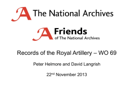 WO 69 - The National Archives