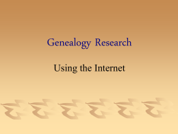 Internet Genealogy Research - RootsWeb Genealogical Data