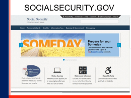 What you need to know about Social Security – PowerPoint