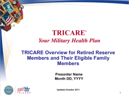 TRICARE is… - Health Net Federal Services