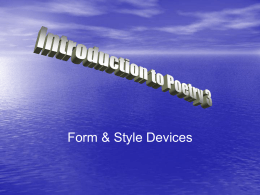 Introduction to Poetry 3