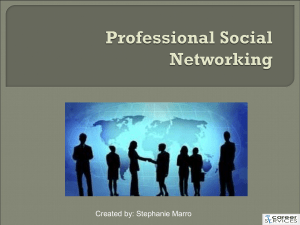 Professional Social Networking - Southern Connecticut State