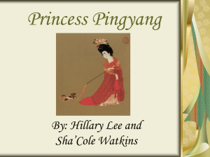 Princess Pingyang - World History and Geography