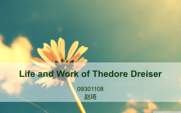 Life and Work of Thedore Dreiser