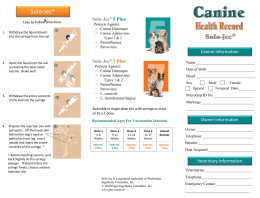Canine Health Record with vaccination chart