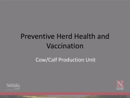 Preventive Herd Health and Vaccination