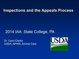 USDA Inspections and the Appeal Process - CClarke