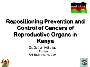 Repositioning Prevention and Control of Cain Kenya_HIV-ICC