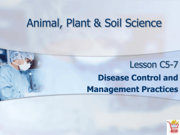 Disease Control and Management Practices