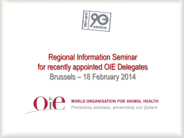 General Presentation of the OIE (M. Eloit)