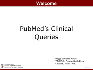 PubMed`s Clinical Queries