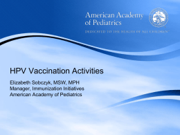 AAP HPV Call to Action Presentation