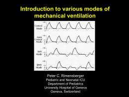 2) Various ventilator modes