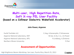 High Repetition-Rate, Soft X-ray FEL User Facility based on a