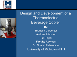 Design and Development of a Thermoelectric Beverage Cooler