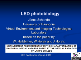 LED photobiology