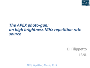 an high brightness MHz repetition rate source