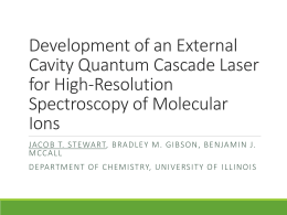 Development of an External Cavity Quantum Cascade Laser for