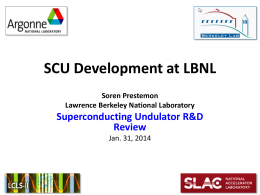 SCU Development at LBNL