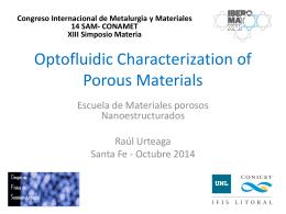 Caracterización óptofluídica de materiales