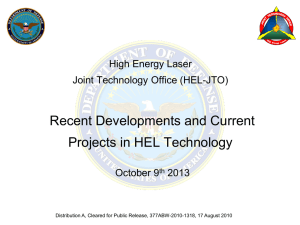 HEL JTO Accelerator Development Programs for National